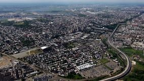 City Aerial, Urban, Neighborhoods, District. Stock video of a city stock footage