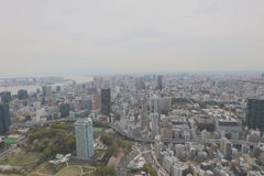 City aerial view from Tokyo Tower Royalty Free Stock Photos