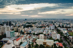City on the afternoon high. Ho Chi Minh City, Viet Nam in the afternoon view from above of the great and beautiful Royalty Free Stock Photos