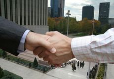 City agreement Stock Photos