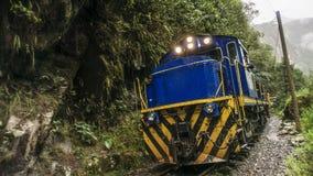 AGUAS CALIENTES, PERU Inca Rail train. City of AGUAS CALIENTES, PERU Inca Rail train stock images