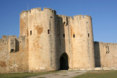 City of Aigues mortes France. Ramparts of the strengthened city of Aigues-Mortes / France Royalty Free Stock Images