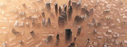 City from the air vector illustration