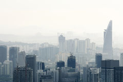 City in air pollution Royalty Free Stock Photography