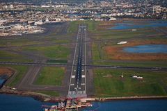 City airport from above Royalty Free Stock Photos