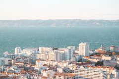 City airview map in marseilles. 2017-12-16 Stock Photo