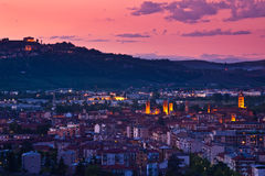 City of Alba at evening. Stock Photography