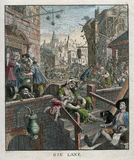 City Alcohol Gin Royal - Gin Lane by William Hogarth 1751 Royalty Free Stock Photo