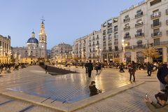 The city of Alcoy prepared to receive its magestades the Three K. Alcoy, Spain. January 5, 2018: The city of Alcoy prepared to receive its magestades the Three Stock Image