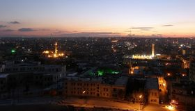 City of Aleppo, Syria, evening view from the citadel Stock Image