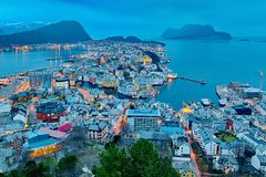 City of Alesund Royalty Free Stock Image
