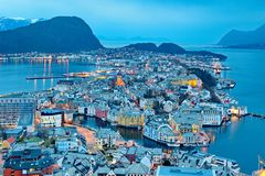 City of Alesund Stock Photo