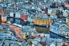 City of Alesund Stock Photography