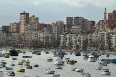 The city of Alexandria in Egypt Royalty Free Stock Photo