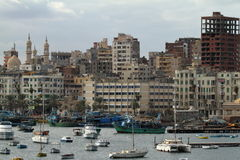The city of Alexandria in Egypt Stock Images