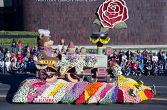 City of Alhambra float on Rose Parade Royalty Free Stock Photography