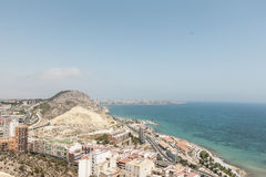 The City of Alicante in Southern Spain Royalty Free Stock Photo