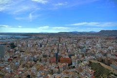 Alicante city, spain,the city at your feet,buildings Stock Photography