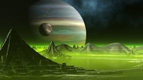 City of aliens vector illustration