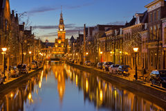 City of Alkmaar, The Netherlands at night Royalty Free Stock Image