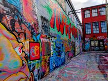 Street Art Alley in Baltimore Maryland royalty free stock photos