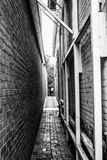 City alley. Narrow city alley in Annapolis, MD royalty free stock photography