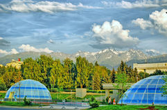 The City Of Almaty. The  square with views of the mountains of Zailiysky Alatau. Kazakhstan Republic file no. The City Of Almaty. The Central square of the city Stock Images
