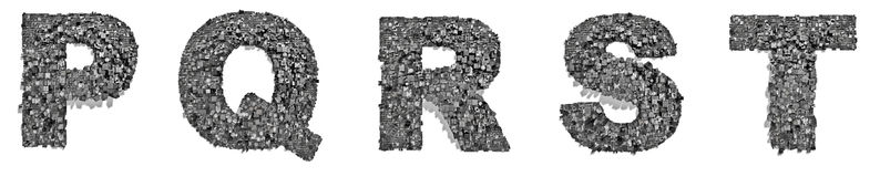 City alphabet letters P to T Royalty Free Stock Image