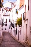 Streets of Altea. City of Altea in White Coast Royalty Free Stock Images