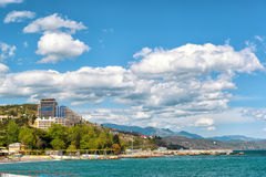 City of Alushta, Crimea. City of Alushta, Russia. Alushta is a well-known resort in the Crimea Stock Photo