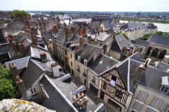 The city Amboise in France Stock Photos