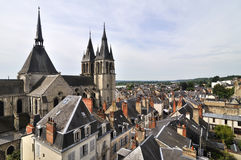 The city Amboise in France Stock Images