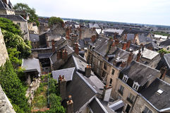 The city Amboise in France Stock Photography