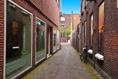 City of Amersfoort. The Narrow Street in the Dutch City of Amersfoort Stock Photo