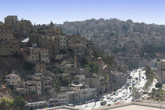 City of Amman,. Jordan. Overview of the city of Amman, capital of Jordan Stock Images