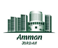 City of Amman Jordan Famous Buildings Royalty Free Stock Photo