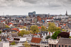 City of Amsterdam from Above. In Netherlands Stock Photo