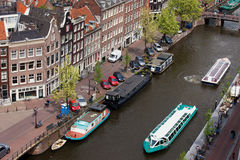 City of Amsterdam in Holland from Above stock photography