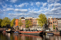 City of Amsterdam in Netherlands Royalty Free Stock Photos