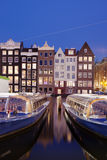 City of Amsterdam at Night Royalty Free Stock Photo