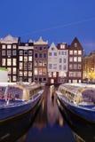 City of Amsterdam at Night royalty free stock photo