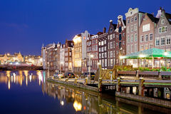 City of Amsterdam at Night Stock Image