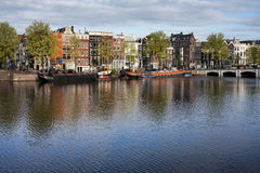 City of Amsterdam River View Stock Photography