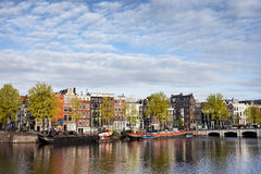 City of Amsterdam River View Royalty Free Stock Images