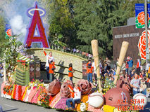 The city of Anaheim's Rose Bowl Float Stock Photo