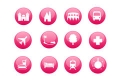 City And Touristic Map Icons Stock Image
