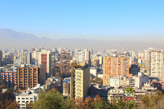 City and The Andes mountain in the background, Chile Royalty Free Stock Images