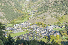 City of Andorra La Vella. View from the mountain stock photography