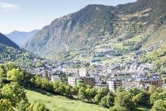 City of Andorra La Vella. Royalty Free Stock Images