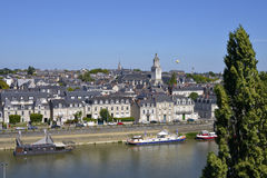 City of Angers in France Royalty Free Stock Photography